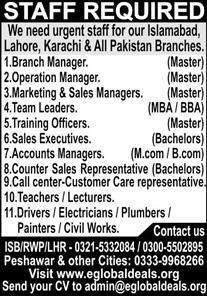 Branch Manager Jobs 2020 in Islamabad