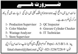 Gravure Printing Company Jobs 2020 in Karachi