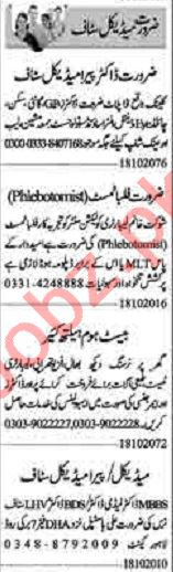 Dunya Sunday Classified Ads 18 Oct 2020 for Medical Staff