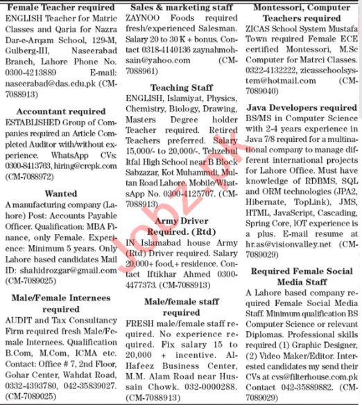 The News Sunday Classified Ads 18 Oct 2020 for Multiple