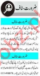Restaurant & Hotel Staff Jobs 2020 in Peshawar