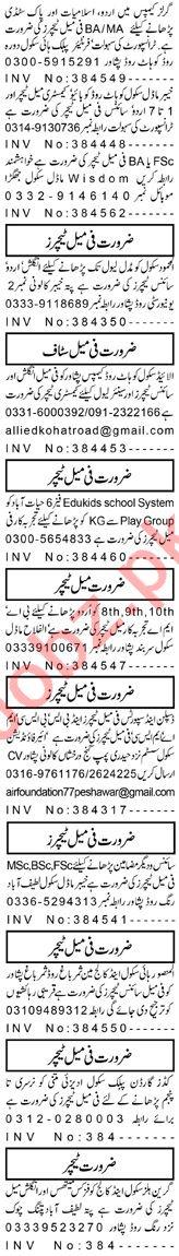 Teacher & Coordinator Jobs 2020 in Peshawar