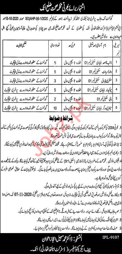 District Health Authority DHA Attock Jobs 2020