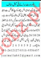 Nawab Housing Associates Peshawar Jobs for Marketing Staff