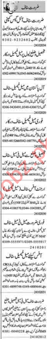 Recovery Officer & Marketing Staff Jobs 2020 in Lahore