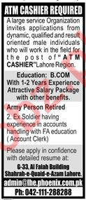 Phoenix Group of Companies Jobs 2020 for ATM Cashier