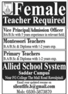 Allied School System Saddar Campus Jobs 2020