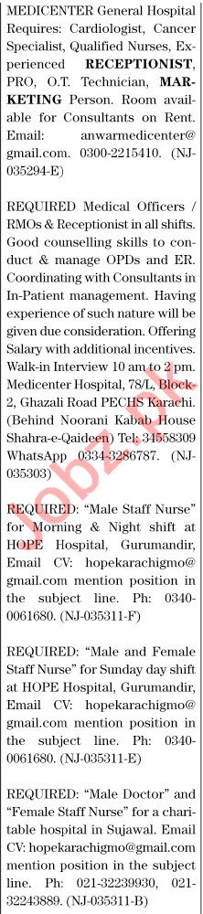 The News Sunday Classified Ads 25 Oct 2020 for Medical Staff