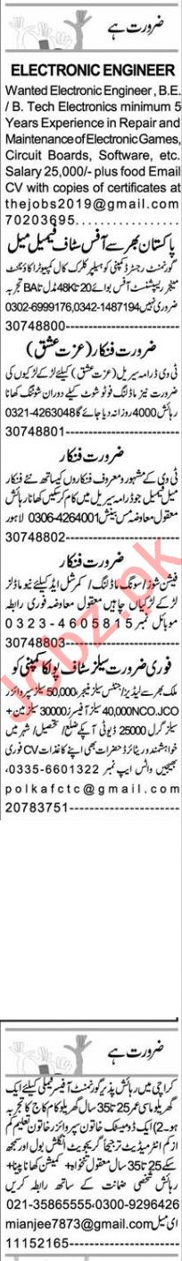 Express Sunday Faisalabad Classified Ads 25 Oct 2020