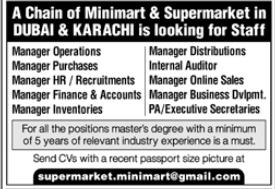Minimart & Supermarket Jobs 2020 in Dubai & Karachi