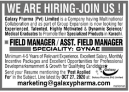 Field Manager & Assistant Field Manager Jobs 2020 in Karachi
