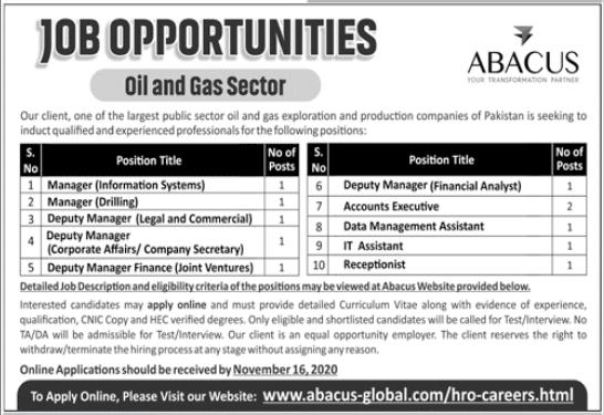 Abacus Global Jobs 2020 in Islamabad Karachi Lahore