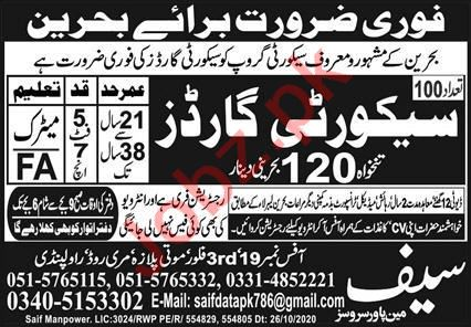 Security Guard & Security Officer Jobs 2020 in Bahrain