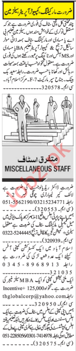 Customer Relation Officer & Office Assistant Jobs 2020