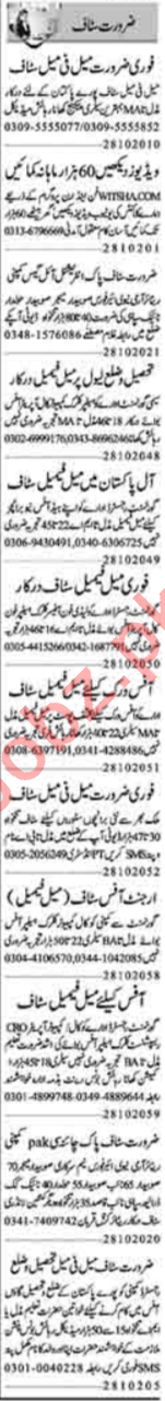 Branch Manager & HR Officer Jobs 2020 in Lahore