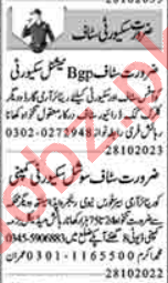 Security Foreman & Lady Security Guard Jobs 2020 in Lahore