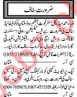 Lab Technician & Lady Health Visitor Jobs 2020 in Multan