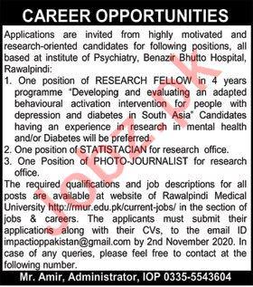 Rawalpindi Medical University RMU Jobs 2020 for Statistician