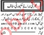 Security Foreman & Security Incharge Jobs 2020 in Multan
