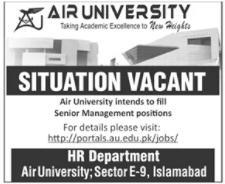 Air University Jobs 2020 in Islamabad Campus
