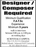 Designer & Composer Jobs 2020 in Islamabad