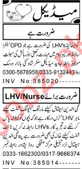 Aaj Sunday Classified Ads 1st Nov 2020 for Medical Staff