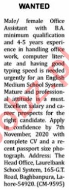 Nation Sunday Classified Ads 1st Nov 2020 for Teaching Staff