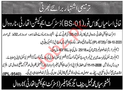District Education Authority DEA Khanewal Jobs 2020