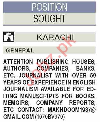 News Reporter & Editor Jobs 2020 in Karachi