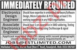 Electronics Design Engineer & Associate Engineer Jobs 2020