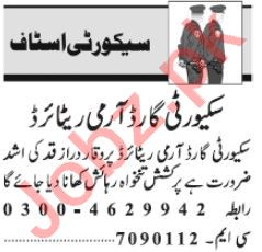 Security Guard & Security Supervisor Jobs 2020 in Lahore