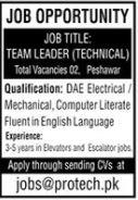 Team Leaders Technical Jobs 2020 in Peshawar KPK