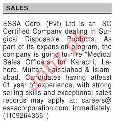 Dawn Sunday Classified Ads 8th Nov 2020 for Sales Staff