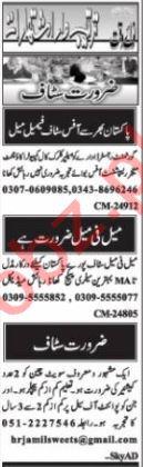 Nawaiwaqt Sunday Islamabad Classified Ads 8th Nov 2020