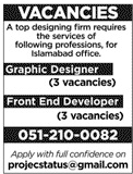 Graphic Designers & Front End Developers Jobs 2020