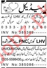 Resident Medical Officer & LHV Jobs 2020 in Peshawar