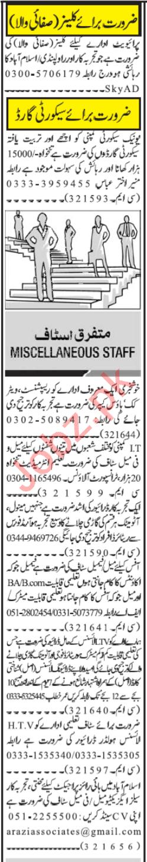 Receptionist & Public Dealing Expert Jobs 2020 in Islamabad