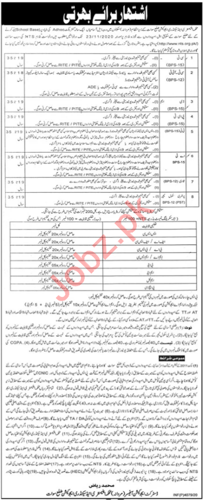Elementary and Secondary Education ESED Swat Jobs 2020
