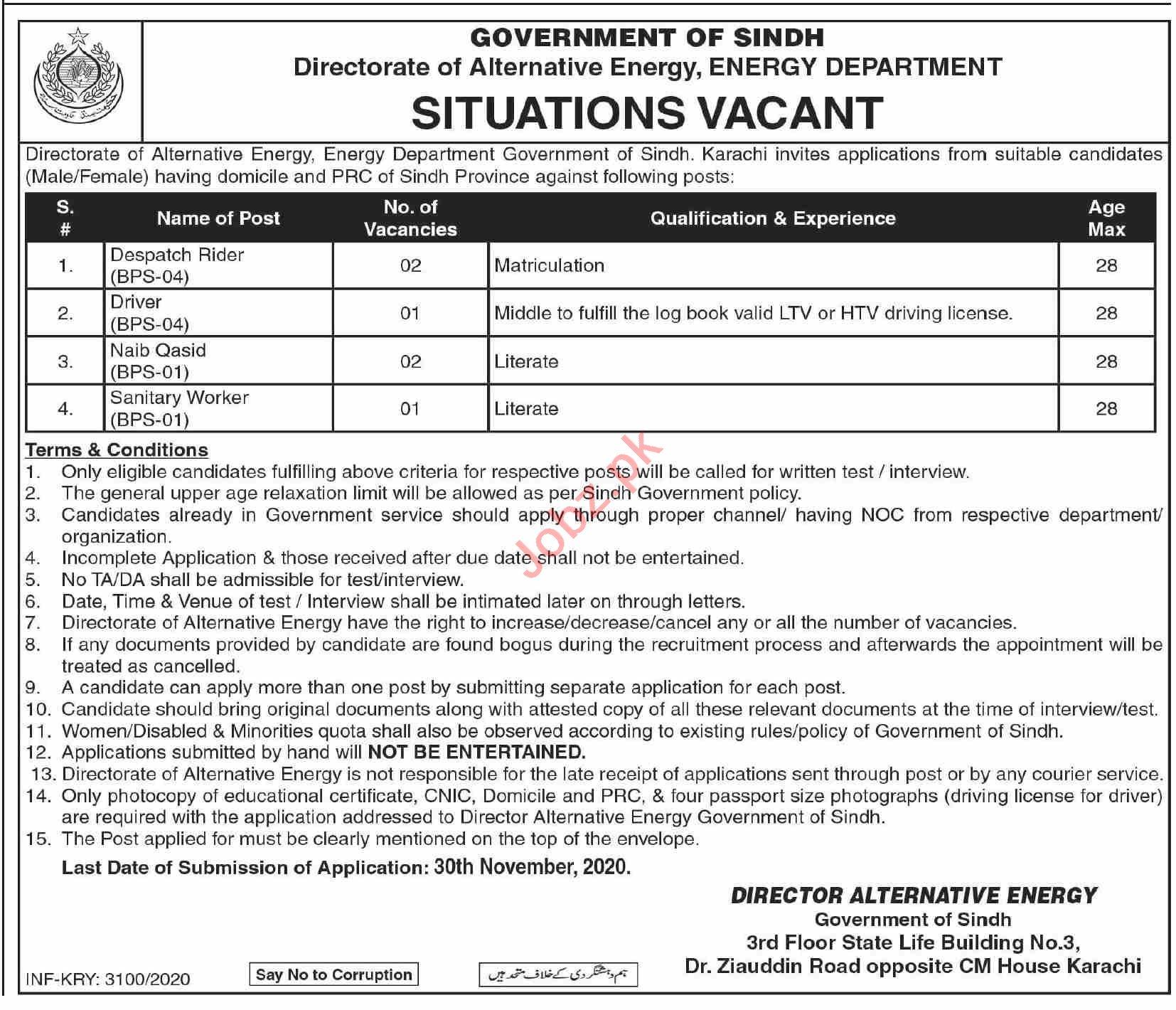 Alternative Energy Development Board AEDB Sindh Jobs 2020