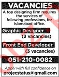 Graphic Designer & Front End Developer Jobs 2020
