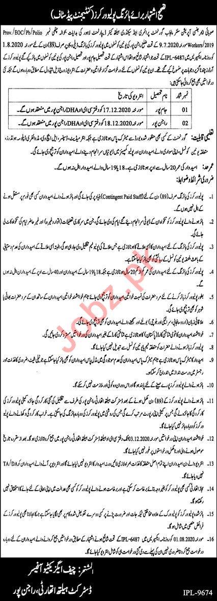 Provincial Emergency Operation Center PEOC Punjab Jobs 2020