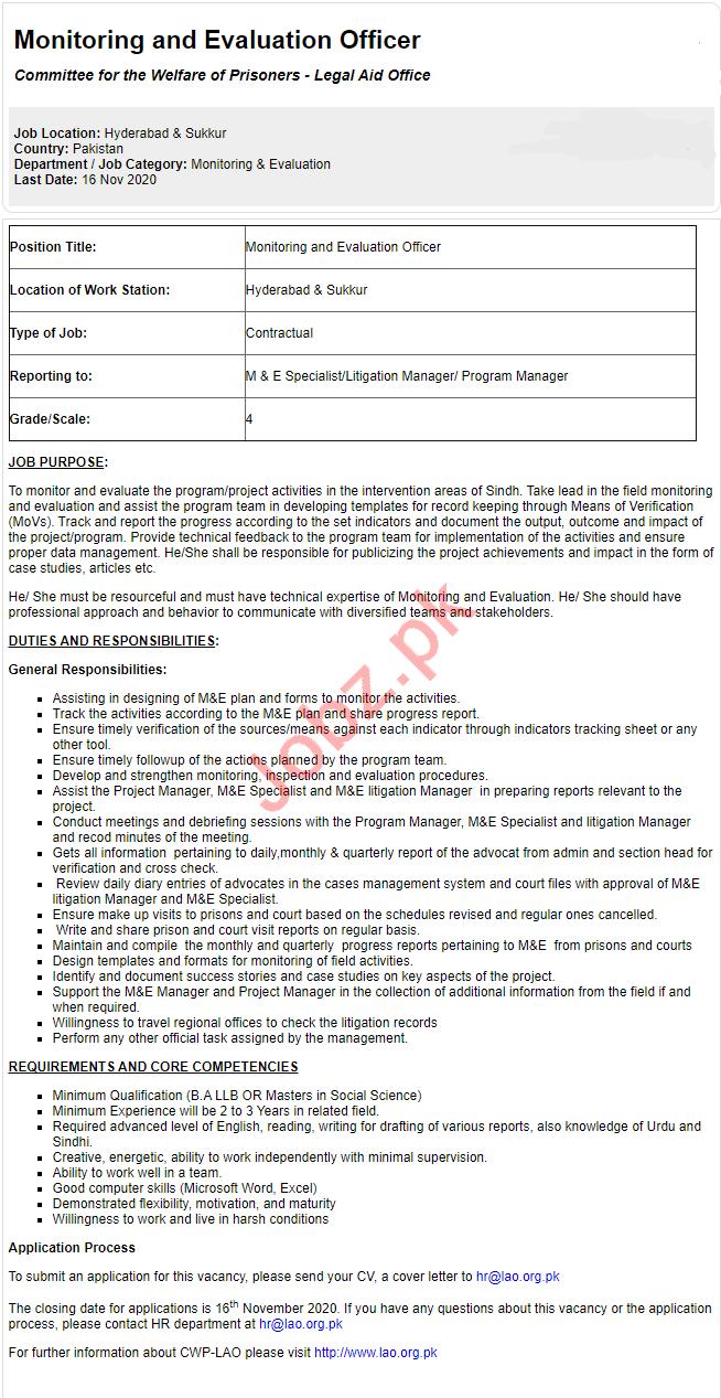 Committee for the Welfare of Prisoners Hyderabad Jobs 2020