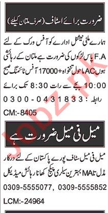 Branch Manager & Account Manager Jobs 2020 in Multan