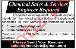 Chemical Sales Engineer & Chemical Service Engineer Jobs
