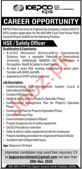 KEPCO Plant Services & Engineering Company Jobs 2020