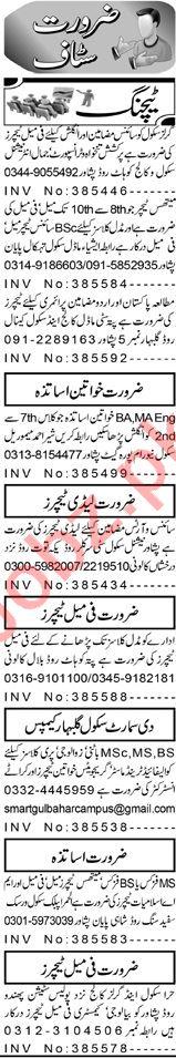 Subject Specialist & Coordinator Jobs 2020 in Peshawar