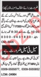 Office Assistant & Sales Manager Jobs 2020 in Multan
