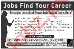 Architect & Structural Engineer Jobs 2020 in Lahore