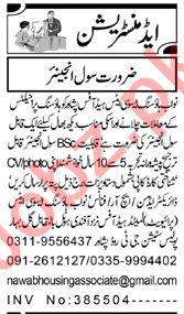 Civil Engineer & Engineer Jobs 2020 Nawab Housing Associate