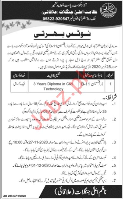 Forestry Wildlife & Fisheries Department Muzaffarabad Jobs